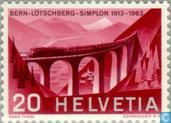 Postage Stamps - Switzerland [CHE] - Lötschbergbaan 50 years