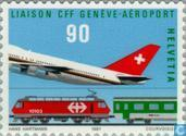 Postage Stamps - Switzerland [CHE] - Airport terminal train