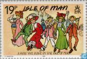Briefmarken - Man - Klassische Postkarten