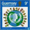 Postzegels - Guernsey - Int. Jaar van de Jeugd