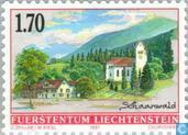 Briefmarken - Liechtenstein - Village Faces