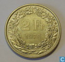 Coins - Switzerland - Switzerland 2 francs 1976