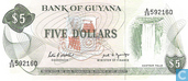 Guyana 5 Dollars ND (1989)
