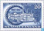 Postage Stamps - Finland - 50th anniversary of the Federation of Finnish Employers