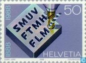 Postage Stamps - Switzerland [CHE] - SMUV 100 years
