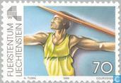 Briefmarken - Liechtenstein - Sport-Spiele kleinen europäischen Ländern