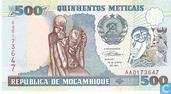 Banknoten  - República de Moçambique - Mosambik 500 Meticais
