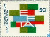 Postzegels - Liechtenstein - E.F.T.A.