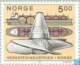 Briefmarken - Norwegen - 500 Brown