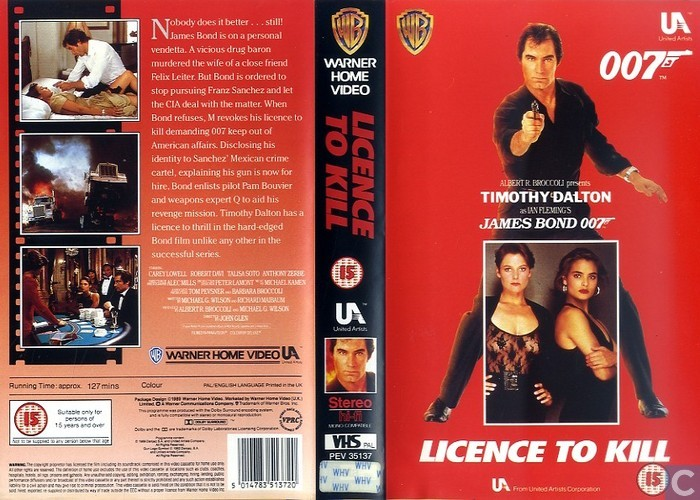 Licence to Kill - VHS video tape - Catawiki
