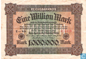 Billets de banque - Reichsbanknote - Allemagne 1 Million Mark