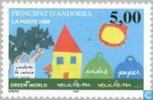 Timbres-poste - Andorre - Poste française - Recyclage
