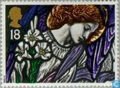 Postage Stamps - Great Britain [GBR] - Christmas - Stained glass windows