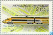First mailtransport by TGV