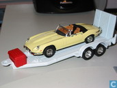 Model cars - Yat Ming - Jaguar E-type op Trailer