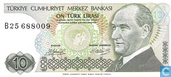 Turkey 10 Lira ND (1979/L1970) P192a2