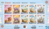 Timbres-poste - Jersey - patrimoine maritime, la voile