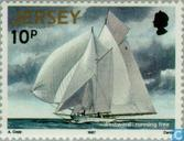Timbres-poste - Jersey - Voile
