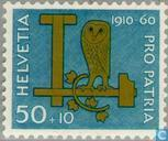 Postage Stamps - Switzerland [CHE] - Ruler, hammer, owl