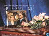 Postage Stamps - Guernsey - Prince Edward and Sophie Rhys-Jones Wedding