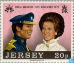 Postage Stamps - Jersey - Princess Anne and Mark Phillips Wedding
