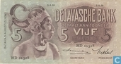 Dutch East Indies Guilder 5