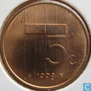 Coins - the Netherlands - Netherlands 5 cents 1998