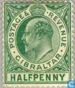 Postzegels - Gibraltar - Koning Edward VII
