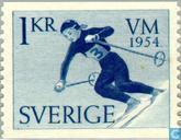 Postage Stamps - Sweden [SWE] -  WK Skiën
