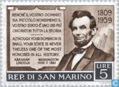 Briefmarken - San Marino - Lincoln. Abraham