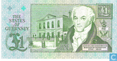 Billets de banque - States Treasurer of The States of Guernsey - Pound Guernesey 1