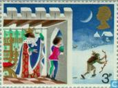 Postage Stamps - Great Britain [GBR] - Christmas Story-PVA Gum