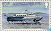 Postage Stamps - Guernsey - Transport 25 years