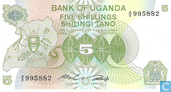 Ouganda 5 Shillings ND (1982)