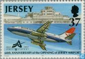 Postage Stamps - Jersey - Airport 60 years