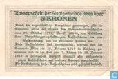 Bankbiljetten - Wien - Stadtgemeinde - Wien 5 Kronen 1918
