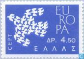 Postage Stamps - Greece - Europe – Flying Pigeons