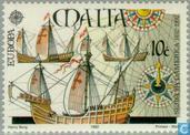Briefmarken - Malta - Europa – Entdeckung von Amerika
