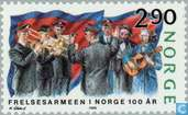 Postage Stamps - Norway - 100 years of Salvation Army
