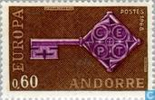 Briefmarken - Andorra - Französisch - Europa - Schlüssel