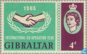 Postage Stamps - Gibraltar - International Co-operation Year
