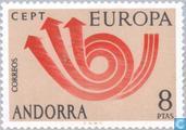 Postzegels - Andorra - Spaans - Europa – Posthoorn