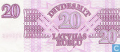 Banknotes - Government issue - Latvia 20 Rublu