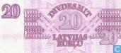 Billets de banque - Emission de l'état - Rublu Lettonie 20