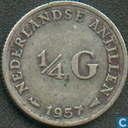 Netherlands Antilles ¼ gulden 1957
