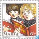 Postage Stamps - Malta - Children sing kerstmiederen