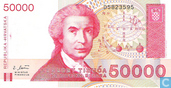 Banknotes - Republika Hrvatska - Croatia 50,000 Dinara
