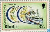 Postage Stamps - Gibraltar - Operation Raleigh