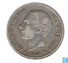Spanje 2 pesetas 1882