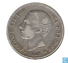Espagne 2 pesetas 1882